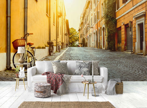 3D Urban Street Scenery Wall Mural Wallpaper 17