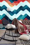 3D Colorful Waves Strile Wall Mural Wallpaper 23