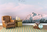 3D white snow mountain wall mural wallpaper 50
