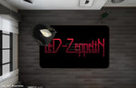 3D Led Zeppelin Band Black Non-Slip Rug Mat 71