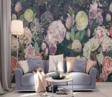 3D Showy Bloomy Oil Painting Flowers Wall Mural Removable 124 - Jessartdecoration