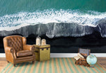 3D blue sea waves wall mural wallpaper 142