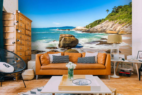 3D Blue Sky Reef Beach  Wall Mural Wallpaper 137