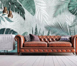 3D Modern Tropical Leaves Wall Mural Removable 167 - Jessartdecoration