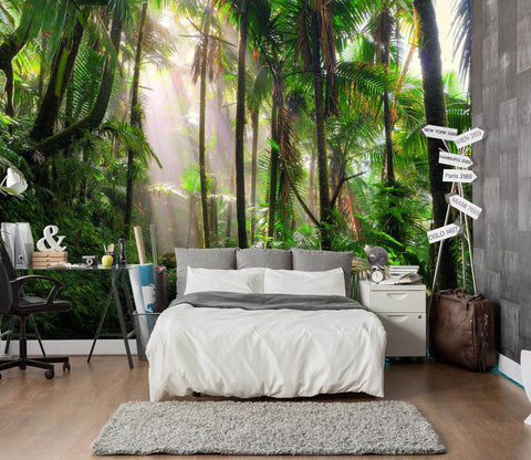 3D Tropical Rainforest 137 Wall Murals