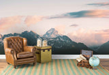3D sky white clouds mountain wall mural wallpaper 127