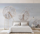 3D Simple Dandelion Flying Seeds Wall Mural Removable Wallpaper 119
