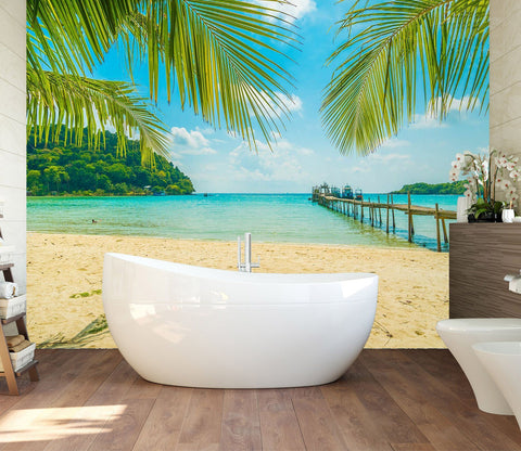 3D Beach Seascape 128 Wall Murals