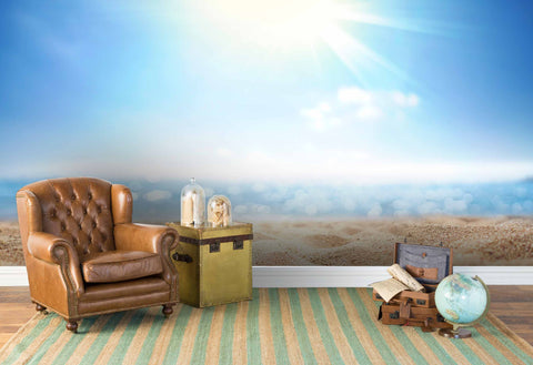 3D Blue Sky Desert Wall Mural Wallpaper 172