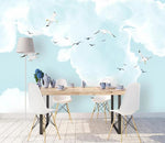 3D Sea Mew Blue Sky Wall Mural Removable Wallpaper 137 - Jessartdecoration