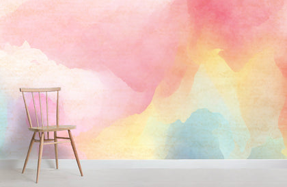 3D Pink Gradient Wall Mural Wallpaper 14