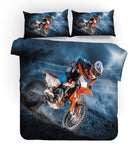 3D Motocross Quilt Cover Set Bedding Set Pillowcases 173