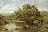 3D countryside scenery oil painting wall mural wallpaper 27