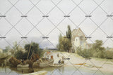 3D nordic countryside oil painting wall mural wallpaper 40