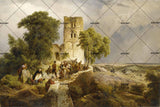 3D castle scenery oil painting wall mural wallpaper 44