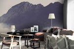 3D black mountain wall mural wallpaper 124