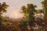 3D pastoral customs oil painting wall mural wallpaper 68