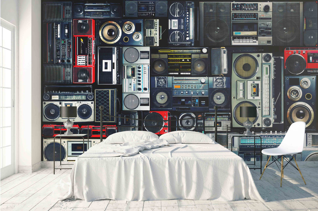 3d Old Radio Effect Wall Mural Wallpaper 25 Jessartdecoration