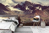 3D winter mountain wall mural wallpaper 91