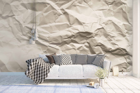 3D Wrinkle Effectp Paper Wall Mural Wallpaper 6