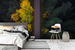 3D autumn forest highway wall mural wallpaper 40
