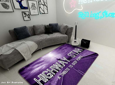 3D Highway Star Rock Band Non-Slip Rug Mat 64