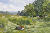 3D green grassland oil painting wall mural wallpaper 55