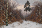 3D snow jungle scene oil painting wall mural wallpaper 90