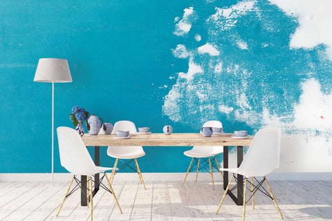 3D Blue White Color Wall Mural Wallpaper 21