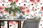 3D Watercolor Showy Floral Wall Mural Wallpaper 06