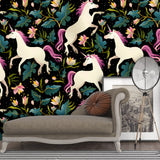 3D Color Unicorn Wall Mural Wallpaper 28