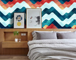 3D Color Wave Stripe Wall Mural Wallpaper 24