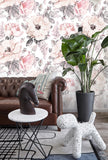 3D Watercolor Vintage Floral Wall Mural Wallpaper 02 - Jessartdecoration