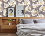 3D White Floral Wall Mural Wallpaper 16 - Jessartdecoration