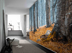 3D autumn forest wall mural wallpaper 80