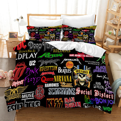 3D Rock Bands Sign Quilt Cover Set Bedding Set Pillowcases 84
