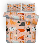 3D Forest Animals Pattern Quilt Cover Set Bedding Set Pillowcases 220
