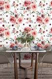 3D Watercolor Showy Floral Wall Mural Wallpaper 06 - Jessartdecoration