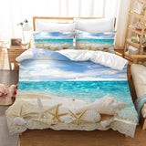 3D Sea Beach Conch Starfish Shell Quilt Cover Set Bedding Set Pillowcases 130