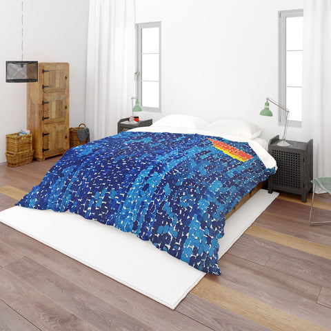3D Blue Mosaic Quilt Cover Set Bedding Set Pillowcases  28
