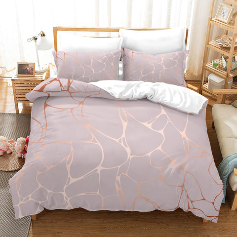 3D Marble Texture Quilt Cover Set Bedding Set Duvet Cover Pillowcases SF89