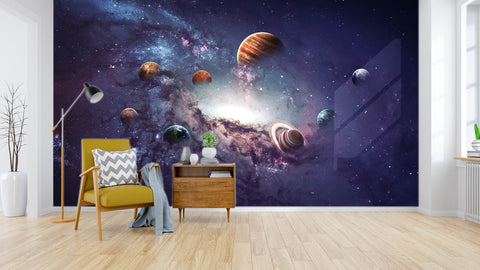 3D color starry sky wall mural wallpaper 13