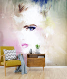 3D colorful abstract figure head wall mural wallpaper 38