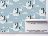 3D Swan Wild Geese Clouds Wall Mural Wallpaper 67