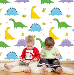 3D Color Cartoon Dinosaur Wall Mural Wallpaper 88