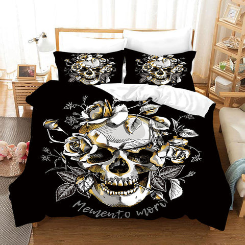 3D  Watercolor Skeleton Black Withered  Quilt Cover Set Bedding Set Duvet Cover Pillowcases  D12  ZY