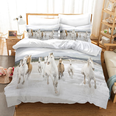 3D Pale Horses Quilt Cover Set Bedding Set Pillowcases 99