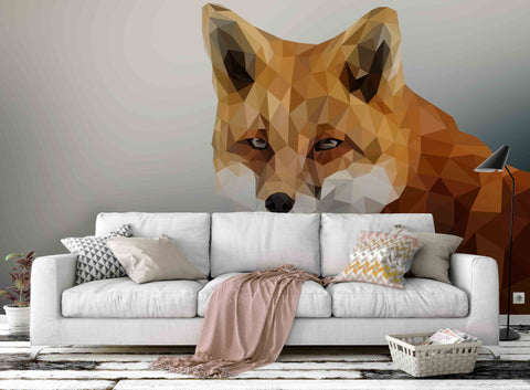 3D Orange Fox Wall Mural Wallpaper 76