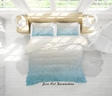 3D White Beach Sea Quilt Cover Set Bedding Set Pillowcases 31