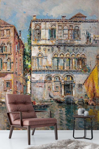 3D water city oil painting wall mural wallpaper 85
